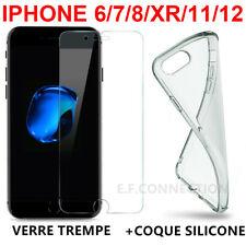 Coque Housse Cover iPhone 8/7/6/X XS Max XR 11 Pro 12 + Film Vitre Verre Trempé