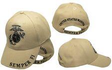 Khaki U.S.Marines Usmc Marine Ega Logo Eagle Gedämpft Semper Fi Kappe Hut