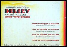 Buvard Publicitaire, Imprimerie DELCEY - Litho-Tipo-Offset - Dole du Jura