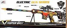 Kids Children Toy Sniper Rifle Camouflage toy With Light Sound Vibration Gift Uk