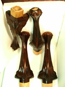 Set of 4 Regency House Dark Cherry Ball and Claw Furniture Legs