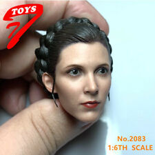 1/6 Female Head Princess Leia Sculpt Carved Model Toy Fit PH TBL Figure