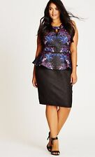 City Chic XL 22 Dress Baroque Fever