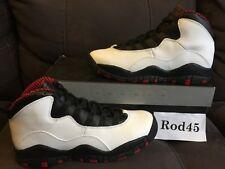 Nike Air Jordan X 10 Retro Chicago White Varisty Red Black (GS) 5.5Y 8aedf7a97