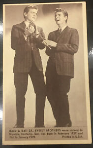 Everly Brothers No. 21 1959 NU CARDS ROCK & ROLL