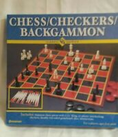 Part Pressman 1113-12 Chess//Checkers//Backgammon Double Sided Folding Game Board