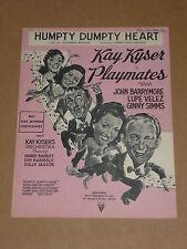"""PLAYMATES"" 1941 Pellicola SPARTITI MUSICALI (KAY Kyser / John BARRYMORE / Lupe Velez)"