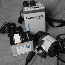 ELINCHROM RANGER RX SPEED AS BATTERY FLASH KIT & HEAD IN NEAR MINT CONDITION