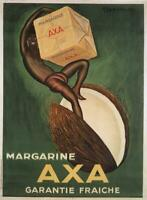 RARE AXA Margarine by Leonetto Cappiello 1931 original french poster