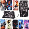 Flip Patterned PU Leather Wallet Card Stand Case TPU Cover Lot Protection Bumper