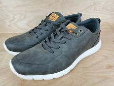 Levis Strauss & Co Mens Comfort Shoes Casual Gray Leather Size 12 Brand New