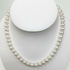 100% Authentic Japanese Akoya Pearl Necklace Loose Strand White 8.0-8.5mm Round