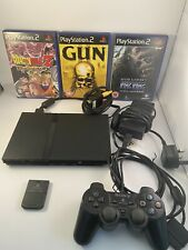 PS2 PlayStation 2 Slim Console Bundle - Controllers, Memory Card And Games