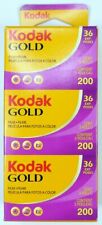 Kodak pack de 3 films GOLD 200 ISO 36 poses, péremption juin 2022