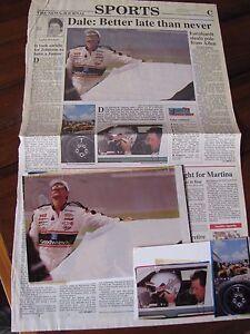 Dale Earnhardt Sr. 1994 Daytona News Journal Sports 2 Original Positive Photo's