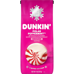 Dunkin White Chocolate Peppermint Flavored Ground Coffee, 11 Ounces (Packagi...