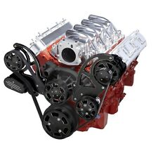Black Diamond Chevy LS Serpentine Pulley Kit - PS & Alternator - LS1 LS2 LS3 LS6