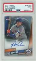 2019 Finest Autographs #FA-PA Pete Alonso RC Rookie (Mets) PSA 9 MINT