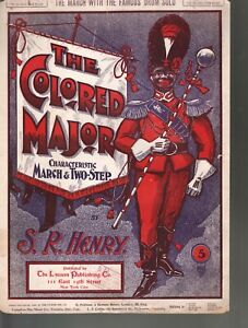 The Colored Major 1900 Large Format Sheet Music
