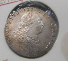 Great Britain 1787 George III Silver Sixpence Coin XF  ATTRACTIVE part Lutre