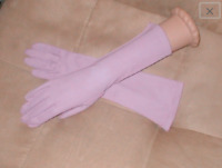 Vintage 1940's Lilac Cotton elbow-length Gloves