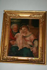 Wandbild IKONE Ölbild Ölgemälde Metall Jesus CHRISTUS Heiligenbild Antik