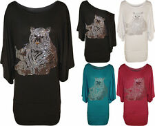 Scoop Neck Party Patternless Batwing Tops & Shirts for Women