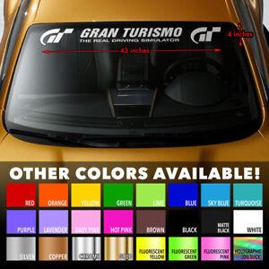 "GRAN TURISMO SIM RACING Premium Windshield Banner Vinyl Decal Sticker 43x4"""