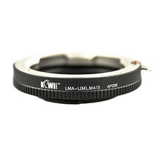 Adapter Mount Ring Leica M Lens to Camera Photo Micro 4/3 Olympus Panasonic