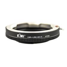 Bague montage adaptateur leica m lentille de caméra photo Micro 4/3 Panasonic Olympus