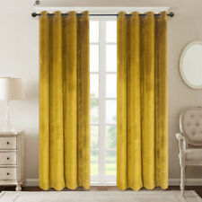 CRUSHED VELVET THERMAL BLACKOUT EYELET EYELET RING TOP LINED CURTAINS x 1PC