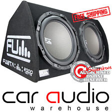 Fli FU Double 12 Inch 2000 Watt Twin Active Amplified Car Sub Subwoofer Bass Box