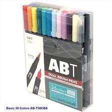 TOMBOW ABT Dual Brush Pens Blendable 2 tips Basic Colors  36-Piece-Set AB-T36CBA
