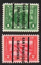 397-398 1¢-2¢ Panama-Pacific precancels Mint NH