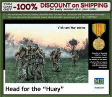 """Master Box 35107 Vietnam War: Head for the """"Huey"""" 5 US Soldiers Scale 1/35"""