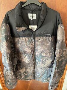 "BNWT Carhartt Lumi Jacket ""Camo Combi/Black"" Size XL"