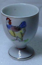 Very Old CHICKEN MOTIF PORCELAIN EGG HOLDER