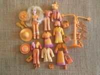 "Polly Pocket Doll Lot ""Colors of the Rainbow"" Orange Pet Clothes Accessory 7-84"
