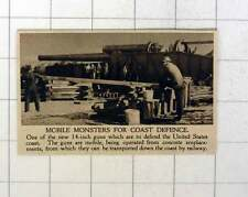 Mobile 1920 Monster canons pour États-Unis de défense côtière