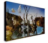 SALVADOR DALI SWANS REFLECTING ELEPHANTS Canvas Wall Art Print. Various Sizes
