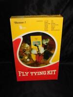 Vtg Universal Vise Corp Fly Tying Kit Bantam 1 With Fur Feathers Hackle Unused