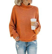 Womens Short Knitting Turtleneck Sweaters Pullover Outwear Loose Winter Fall New
