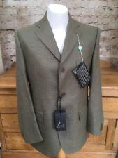 Sartelli diseñador italiano adaptados Blazer Chaqueta Verde Para Hombre Medio Rrp £ 433 BNWT