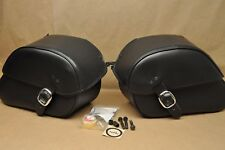 Honda Shadow Spirit VT750 VTX1300 VTX1800 Saddlebags, Mount Brackets & Lock Set