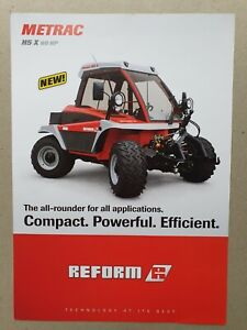 Reform H5 X 60hp  tractors Leaflet/Brochure 2009? 2 pages