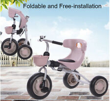 Tricycle for kids 3 to 5 yrs  foldable Trikes Kids Bike Ride On-PINK