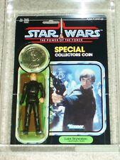 Vintage Star Wars 1985 AFA 80/85/85 LUKE SKYWALKER JEDI KNIGHT POTF 92 BACK MOC!