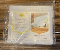 "New Vintage Mid Century Sears Entree Tailored Panel Curtain White 40"" x 63"""