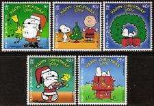 GIBRALTAR MNH 2001 SG989-993 CHRISTMAS: PEANUTS (CARTOON) SET OF 5