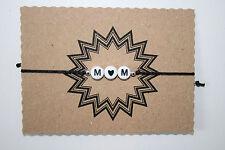 Individuelles bis 2 Buchstaben Weiß Armband mit Herz Wunschtext Initiale 25cm